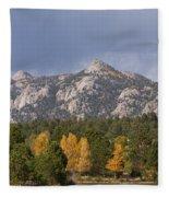 Estes Park Autumn Lake View Vertical Fleece Blanket