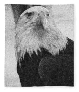 Etched Eagle Fleece Blanket