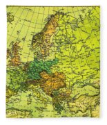 Europe Map Of 1911 Fleece Blanket