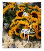 European Markets - Sunflowers And Roses Fleece Blanket