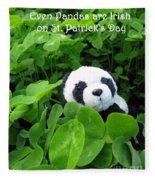 Even Pandas Are Irish On St. Patrick's Day Fleece Blanket