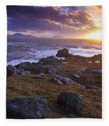 Evening At Breasty Bay Near Malin Head Fleece Blanket