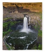 Evening At Palouse Falls Fleece Blanket