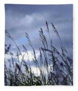 Evening Grass Fleece Blanket