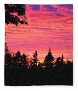 Evening In Paradise Painterly Style Fleece Blanket