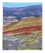 Evening In The Painted Hills Fleece Blanket