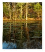 Evening Light On A Missouri Pond I Fleece Blanket