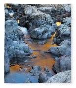 Evening Light On The Black River At Johnsons Shut Ins State Park IIi Fleece Blanket