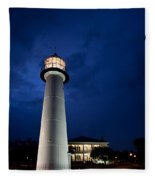 Evening Lighthouse Fleece Blanket
