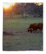 Evening Meal Fleece Blanket