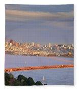 Evening Over San Francisco Fleece Blanket
