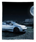 Evo 7 At Night Fleece Blanket