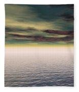 Expanse Of Water And Sky Fleece Blanket
