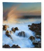 Explosive Dawn Fleece Blanket