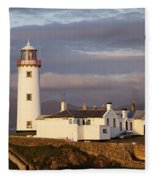 Exterior Of Fanad Lighthouse Fanad Fleece Blanket