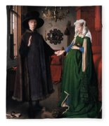 Eyck: Arnolfini Marriage Fleece Blanket
