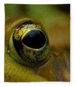 Eye Of Frog Fleece Blanket