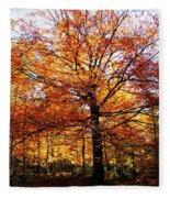 Eye Of The Forest Fleece Blanket