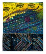 Eyes In The Sky Fleece Blanket