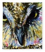 Eyes Of Owl's 13 Fleece Blanket