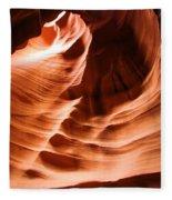 Face In The Canyon Fleece Blanket