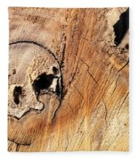 Face In The Wood Fleece Blanket