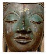 Face Of Bronze Buddha  Fleece Blanket