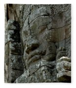 Face Of Stone Fleece Blanket