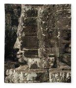 Faces Of Banyon Angkor Wat Cambodia Fleece Blanket