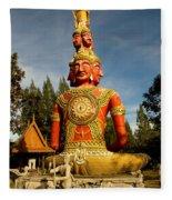 Faces Of Buddha Fleece Blanket