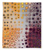 Facets And Circles Fleece Blanket