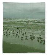 Facing The Wind Fleece Blanket