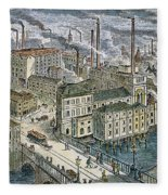 Factories: England, 1879 Fleece Blanket