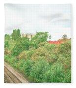 Factory And Trainlines Fleece Blanket