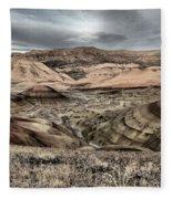 Faded Painted Hills Fleece Blanket