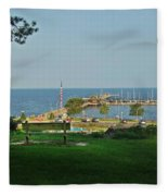 Fairhope Pier 2012 Fleece Blanket