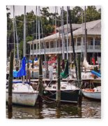 Fairhope Yacht Club Sailboat Masts Fleece Blanket