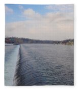 Fairmount Dam And Boathouse Row - Philadelphia Fleece Blanket
