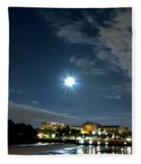 Fairmount Waterworks And The Philadelphia Art Museum Fleece Blanket