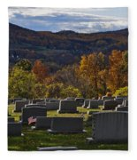 Fairview Cemetery In Autumn Fleece Blanket