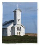 Faith On The Prairie Fleece Blanket