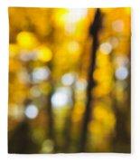 Fall Abstract Fleece Blanket