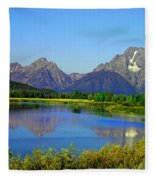 Fall At Oxbow Bend Fleece Blanket