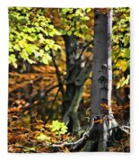 Fall Beauty Fleece Blanket
