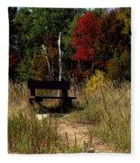 Fall Bench Dreams Fleece Blanket