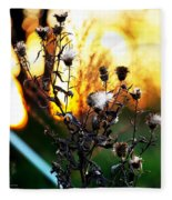 Fall Blooms Fleece Blanket