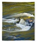 Fall Colors In River Rapids Fleece Blanket