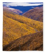 Fall Colours Along Top Of The World Fleece Blanket