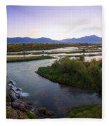 Fall Creek Panorama Fleece Blanket