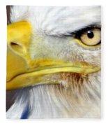Fall Eagle 3 Fleece Blanket